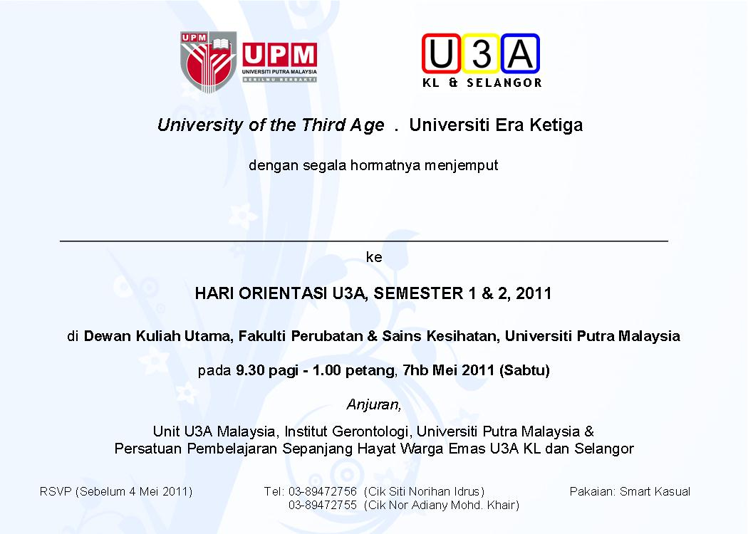 Announcements University Of The Third Age Malaysia Page 3