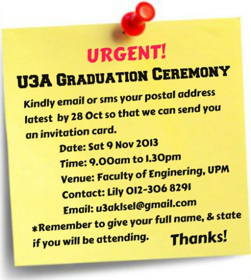 U3A GRADUATION CEREMONY