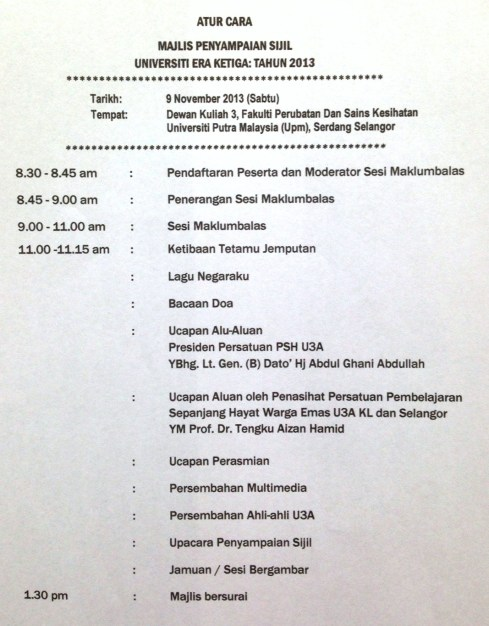 GRADUATION CEREMONY - PROGRAM